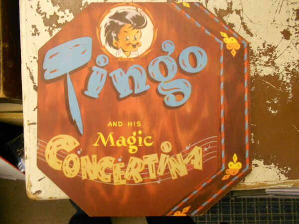 TINGO and his MAGIC CONCERTINA - Children's Book 1947 - DETROIT TAC STRONG
