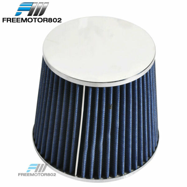 Cold Short Ram Intake High Flow Cone Blue Air Filter 3