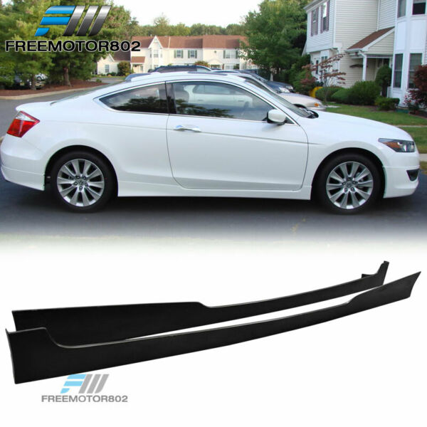 For 08-10 Honda Accord 2DR Coupe HFP Style Side Skirts Urethane