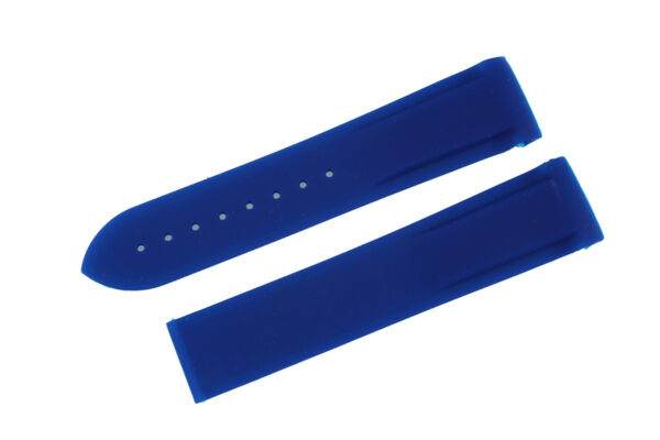 Blue Rubber Diver Watch Strap Silicon Band fit OMEGA Seamaster Planet Ocean