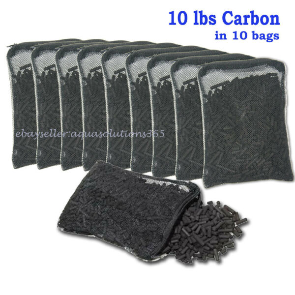 10 lbs Activated Carbon in 10 Media Bags for Aquarium Fish Pond Canister Filter $38.81