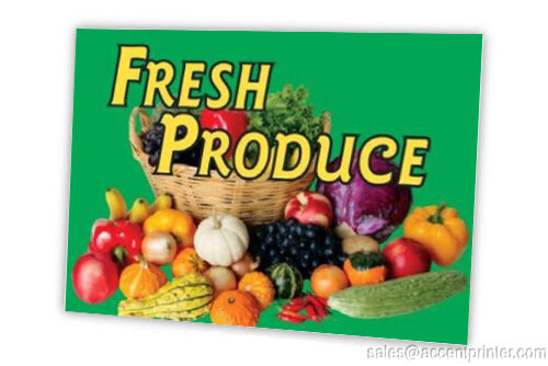 FRESH PRODUCE FULL COLOR DOUBLE SIDED SIGN PACK OF 10