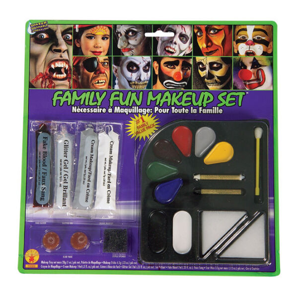 Face Paint Kit Halloween Makeup Grease Make Up Made In USA Clown Zombie Cat