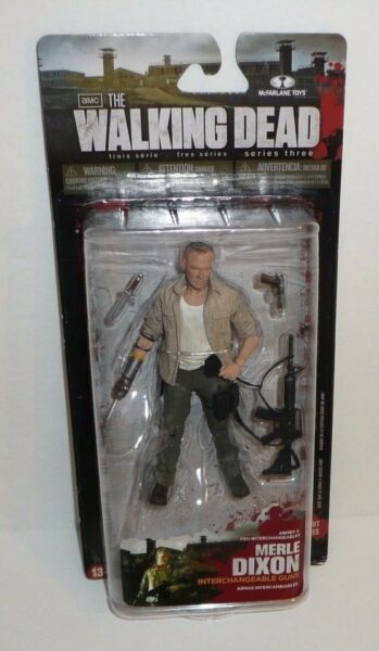 The Walking Dead Series 3 Action Figure - Merle Dixon - McFarlane - Knife Arm