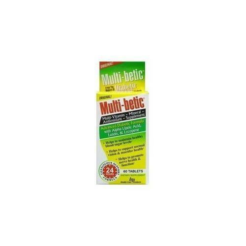 Multi-Betic Multi-Vitamin & Mineral Supplement 60 Tablets