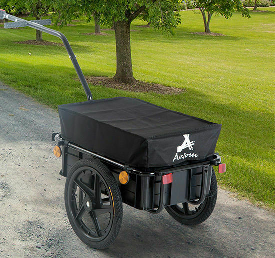 Bicycle Bike Cargo Trailer Steel Carrier Storage Cart Wheel Runner For Shopping $129.99