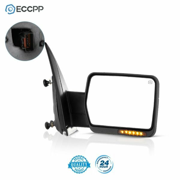 RH For 07-14 Ford F150 Power Heated Led Signal Passenger Towing Side View Mirror