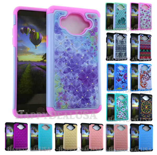 Shock Proof Armor Hard Soft Cover Case for Samsung Galaxy On5 G550 Rhinestones $6.47