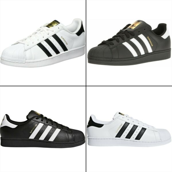 adidas Originals Men's Superstar Sneaker GOLD TONGUE, Black/White. B27140