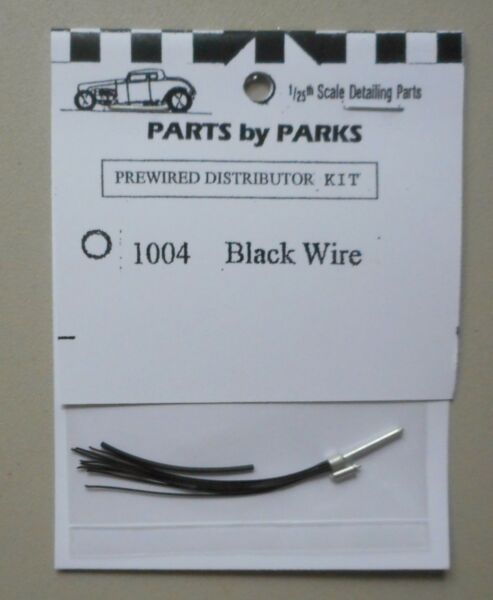 BLACK PRE-WIRED DISTRIBUTOR 1:24 1:25 PART BY PARKS CAR MODEL ACCESSORY 1004