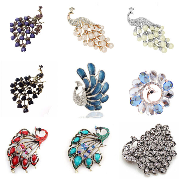 Luxury Vintage Style Peacock Design Amazing Elegant Gift Brooch Decoration