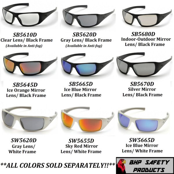 PYRAMEX GOLIATH SAFETY GLASSES MOTORCYCLE SPORT WORK SUNGLASSES Z87+ (1 PAIR) $8.40