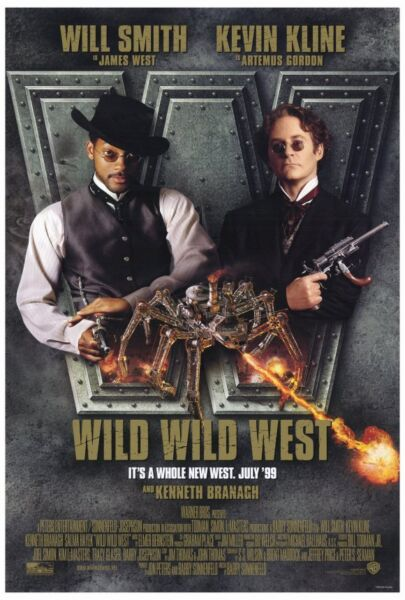 WILD WILD WEST Movie POSTER 27x40 Will Smith Kevin Kline Kenneth Branagh Salma