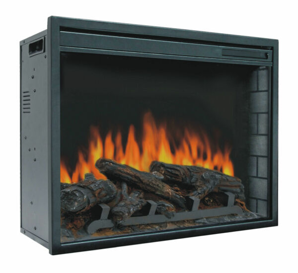 23quot; Electric Firebox Insert with Fan Heater and Glowing Logs for Fireplace