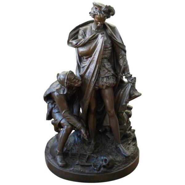 Life Size French 19th Century Patinated Bronze Figural Group by Victor Thiebaut