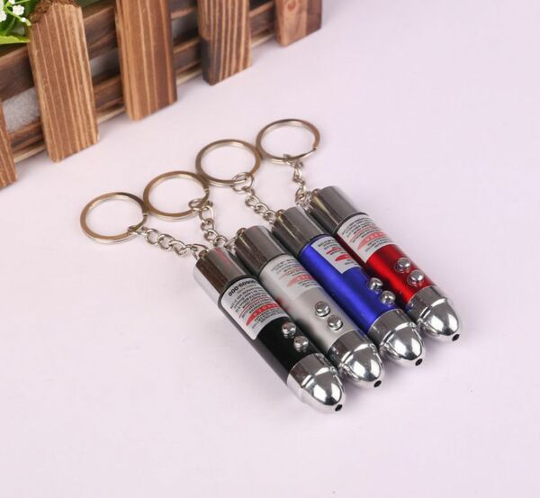 New Small Mini Electric Shock Laser Pen Prank Joke Trick Toy Gag Gift Key Ring U