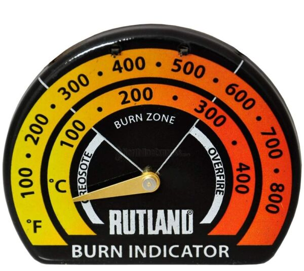 RUTLAND 701 STOVEPIPE THERMOMETER Woodstove Pellet Stove NEW FREE USA SHIPPING $16.35