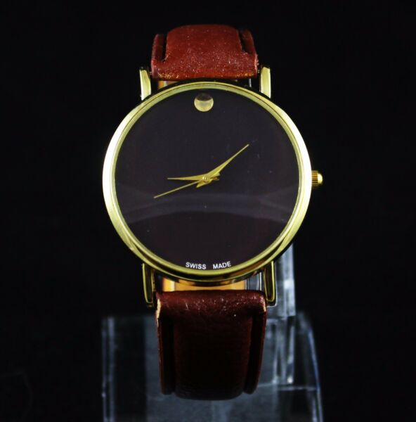 New Men's Classic Leather Fashion Designer Inspired Luxury Wrist Watch Watches