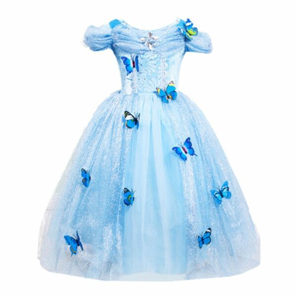 Cinderella Princess#2 Butterfly Party Dress kids Costume Dress for girls 2 10 Y $19.98