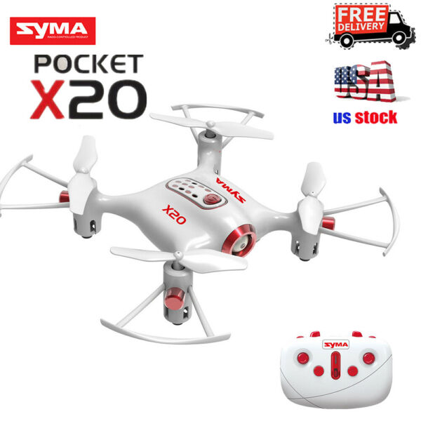 Syma X20 Pocket Drone 2.4Ghz Mini RC Quadcopter Headless Mode Altitude Hold
