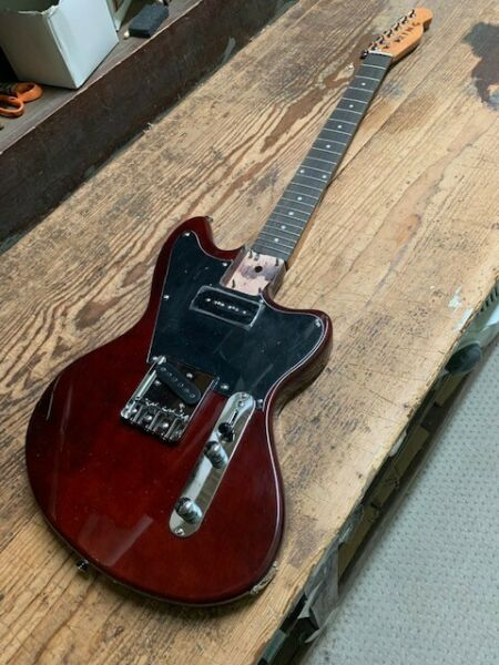 NEW FLAME MAPLE 6 STRING TELE STYLE NATURAL ELECTRIC GUITAR HUMBUCKER GOLD HARD $151.99