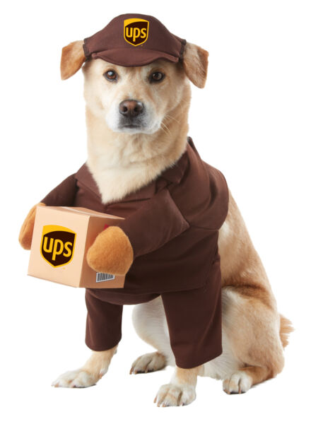 UPS Parcel Delivery Dog Costumes Pet Costume $15.78