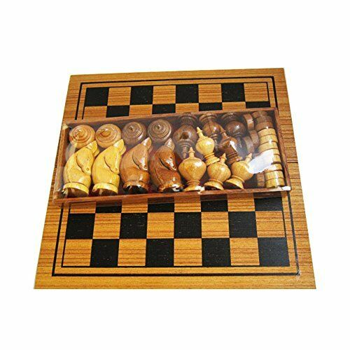 Makruk Thai Chess Set Vintage Board and Pieces Wood Box Wooden Carved Hand Piece