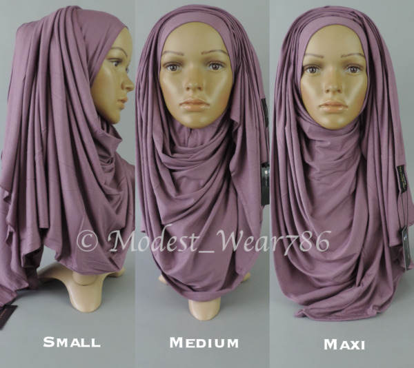 Premium Cotton Jersey Size Small  Medium  Maxi Hijab Scarf Muslim Headwear