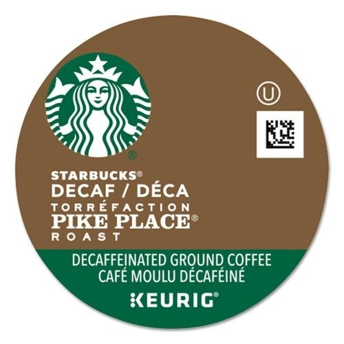 Starbucks Coffee Pike Place Decaf Coffee K-Cups - 011068092CT