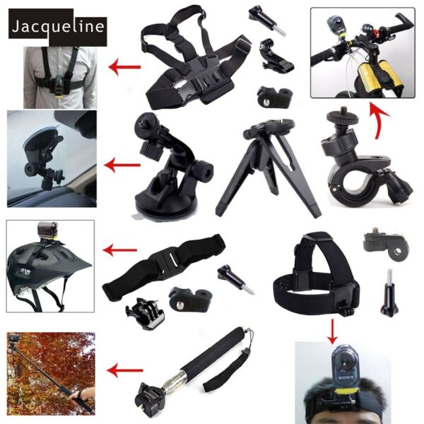 Accessories Chest Head Strap Mount for Sony Action Cam HDR-AS100v AS50 AS200v