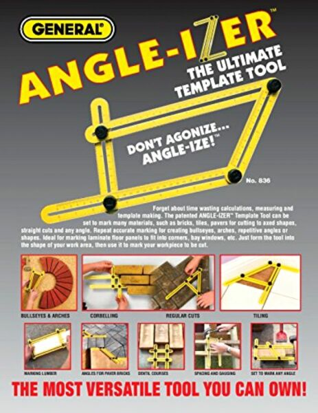 Angle-Izer Ultimate Tile & Flooring Template Tool Multi-Angle Ruler