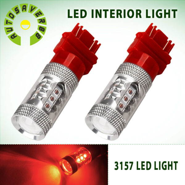 2x RED 31573156 High Power 80W LED Turn Signal Sider Marker Light Bulb