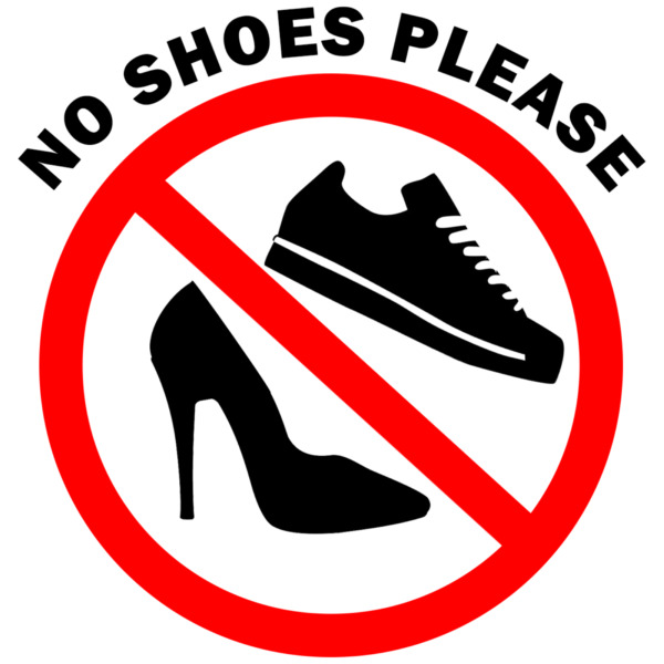 Take Off Your Shoes Sign Vinyl Decal Wall Safety Sticker 371