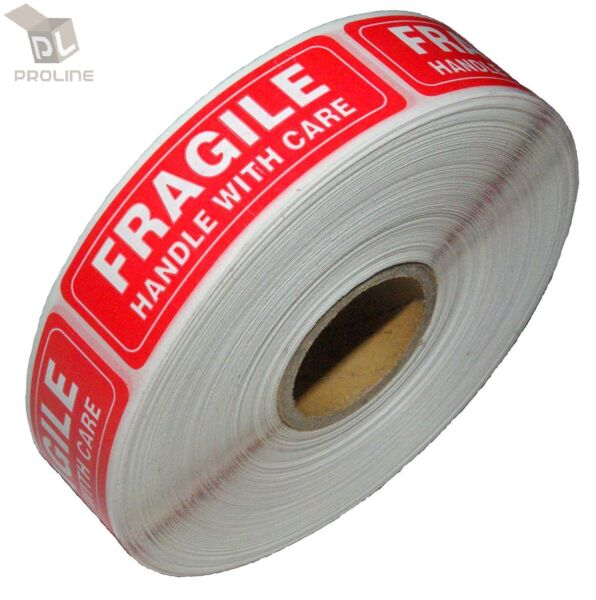 1 Roll 1000 1 x 3 FRAGILE HANDLE WITH CARE Stickers Labels Easy Peel and Apply