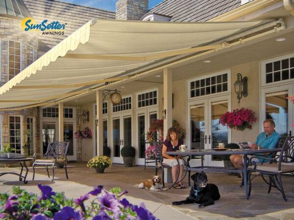 SunSetter Motorized Retractable Awning 20x10 ft. Deck & Patio SunSetter Awning