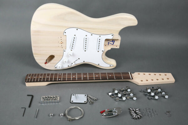 DIY 12 STRING ST-CASTER STYLE ELECTRIC GUITAR KIT-GREAT QUALITY BUILD