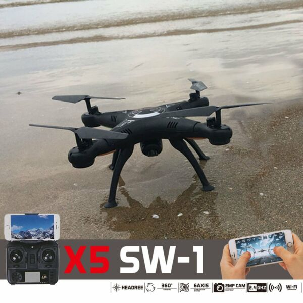 X5SW-1 Wifi FPV Camera Drone RTF 2.4G 4CH RC Black quadcopter with HD Camera UAV