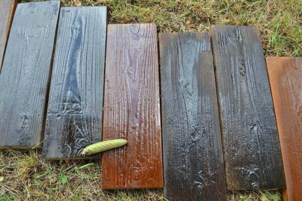 Stepping Stone Concrete Molds Old Wooden Boards Set 2 Mould Garden Path Patio