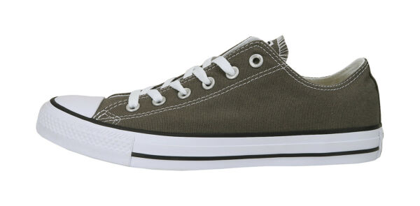 Converse All Star Low Gray Charcoal Canvas Women Men Unisex Chuck Taylor Shoes