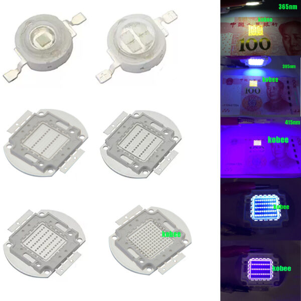 3W 10W 50W 100W 365NM 380NM 395NM UV Ultra Violet High power LED for Aquarium $97.00