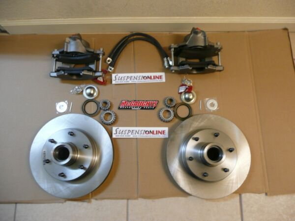 mcgaughys 6 lug rotor kit chevy c10 rotors calipers fits aftermarket spindles