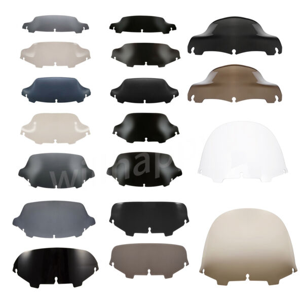 4.5 5 6#x27;#x27; 7quot; 8#x27;#x27; 9quot; 10quot; Wave Square Round Windshield Fit For Harley Street Glide