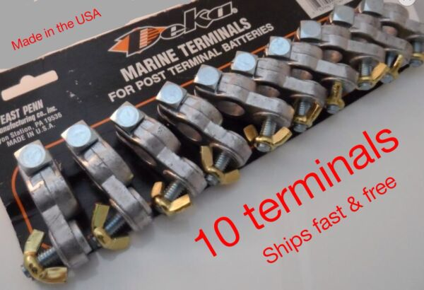 10 PIECE MARINE BATTERY TERMINALS MADE IN THE USA CARD OF 10