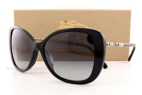 Brand New Burberry Sunglasses BE 4238 3001 8G Black Grey Gradient For Women $108.85