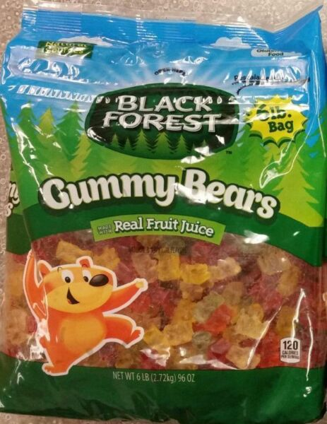 Black Forest Gummy Bears Candy Bulk Real Fruit Gummies Free Shipping in USA