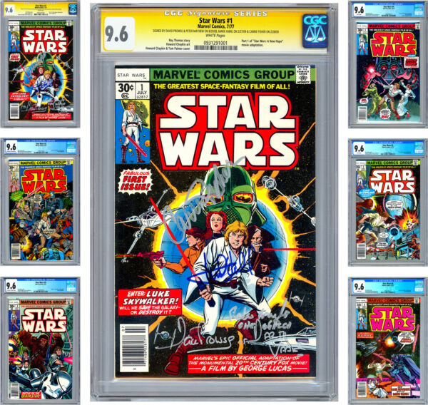 STAR WARS #1-6 CGC-SS 9.6 ISSUE #1 CAST SIGNED 4X COMPLETE MOVIE ADAPTATION 19