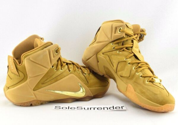 Nike Lebron XII EXT QS - CHOOSE SIZE - 744287-700 Wheat Gold Brown 12 Tan Cork
