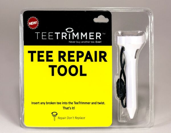 TeeTrimmer Tee Repair Tool; Golf Accessory Gadget Sharpens Wood
