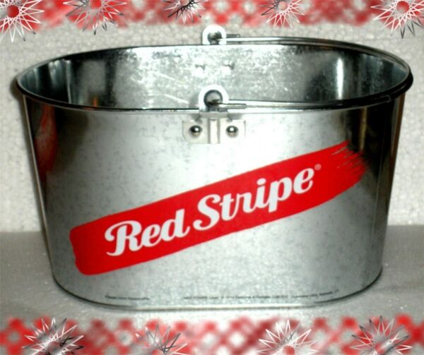 NEW Red Stripe Jamaican Beer Metal Pail & RARE Beach Blanket FREE SHIPPING