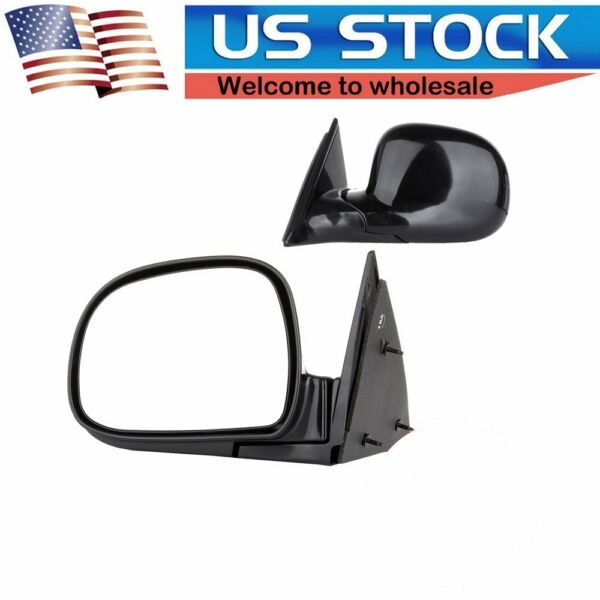 Manual Door Driver Side View Mirror Left for Blazer Jimmy S10 Pickup Truck New